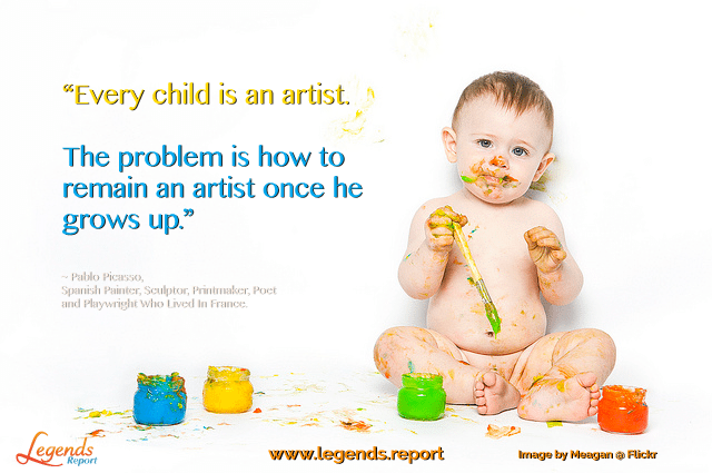 Legends-Report-Quote-Pablo-Picasso-Children-Are-Artists