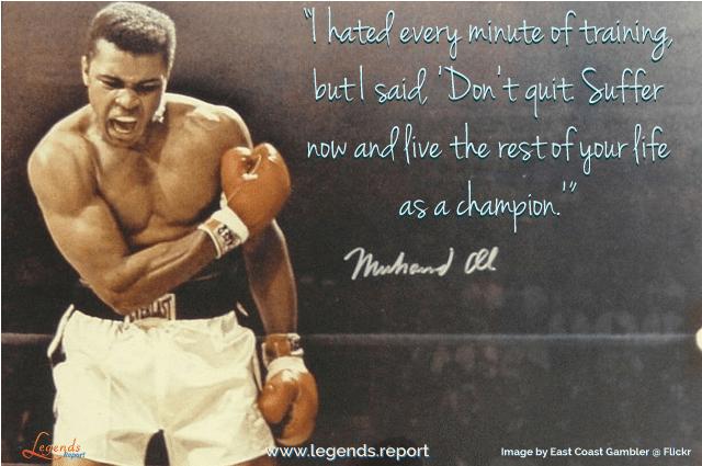 Legends Report Quote - Ali