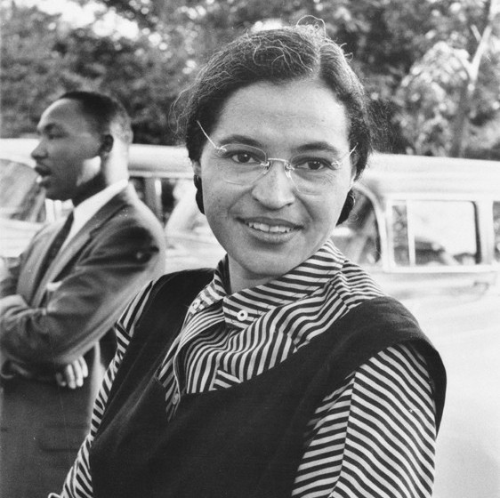 """Rosaparks"" by Unknown - USIA / National Archives and Records Administration Records of the U.S. Information Agency Record Group 306. Licensed under Public Domain via Commons - https://commons.wikimedia.org/wiki/File:Rosaparks.jpg#/media/File:Rosaparks.jpg"