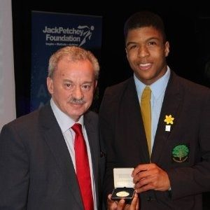 Lewis being presented with a Jack Petchey Foundation Award in X 2015