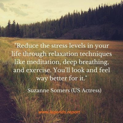 -Reduce the stress levels in your life through relaxation techniques like meditation, deep breathing, and exercise. You'll look and feel way better for it.-