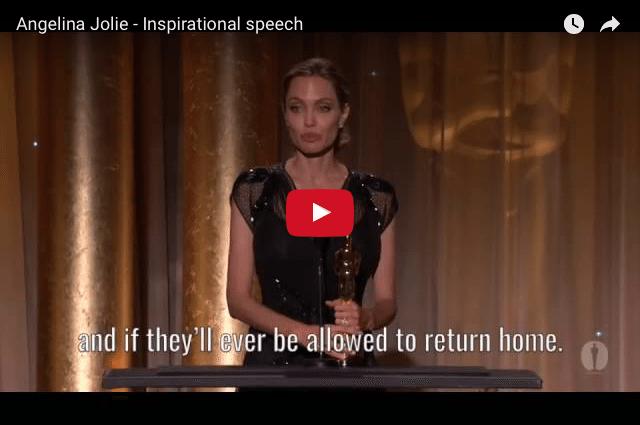 INSPIRING SPEECH: Angelina Jolie - Use Your Life Well!
