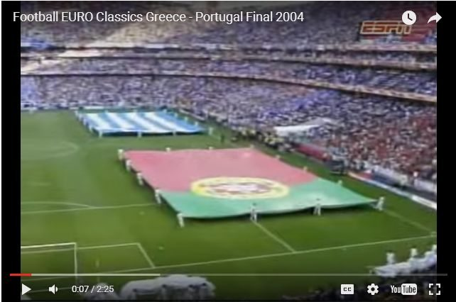 Classic Sporting Moments! - Greece Beat Portugal European Championship 2004