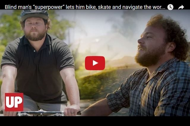 INSPIRING VIDEO - The Blind Man Who Can Ride a Bike!