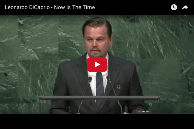 ENVIRONMENT - Leonardo DiCaprio: Which Side of History Are You On?