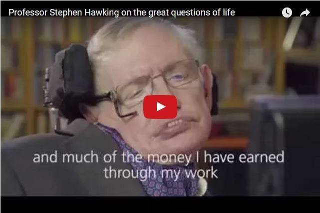 VIDEO - Stephen Hawking Asks...What Makes Us Wealthy?