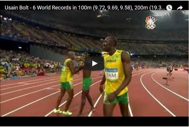 RIO 2016 - The 6 Magical World Records of Usain Bolt!