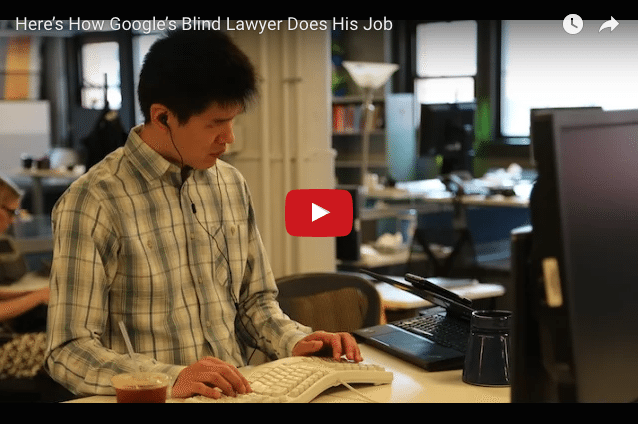 INSPIRATION - Google's Blind Lawyer Who Loves His Work