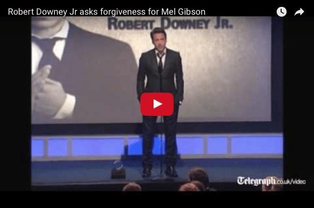 Robert Downey Jr.'s Touching Speech For Mel Gibson