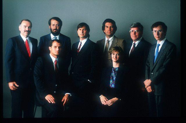 Steve Jobs and Senior NeXT staff by Fabio Bini @ Flickr