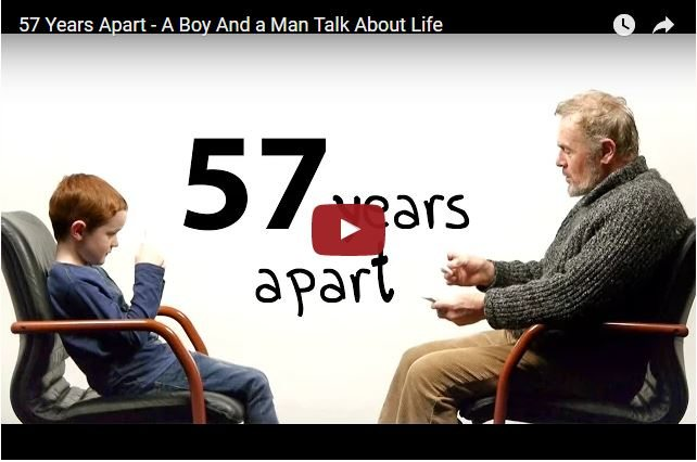 7 Year Old And 64 Year Old Teach Each Other About Life