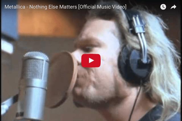 INSPIRING MUSIC: Metallica - Nothing Else Matters