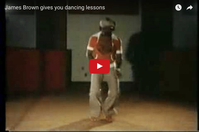 INSPIRING & FUNNY: James Brown's Dance Lesson!