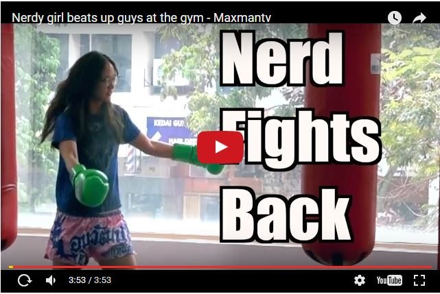 Female Thai Boxing Champ Pranks Guys At Gym!