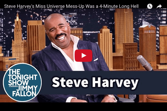FUNNY: Steve Harvey's 4 Minute Miss Universe Nightmare!
