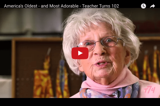 UNBELIEVABLE – 102 Years Old And Still Teaching!