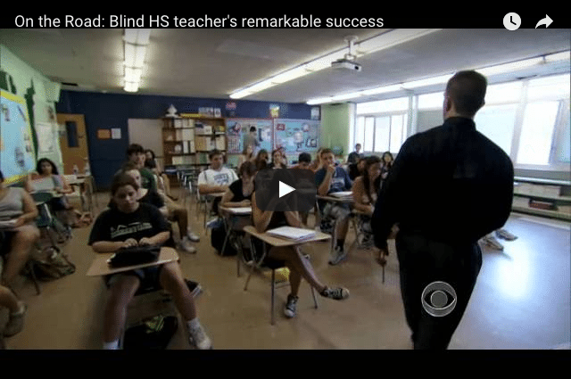 How a Blind Teacher Has Earned The Respect of His Students