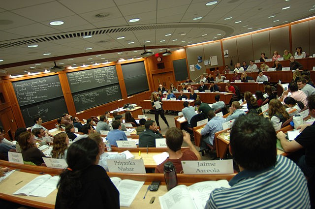 """""""Inside a Harvard Business School classroom"""" by HBS1908 - Own work. Licensed under CC BY-SA 3.0 via Commons - https://commons.wikimedia.org/wiki/File:Inside_a_Harvard_Business_School_classroom.jpeg#/media/File:Inside_a_Harvard_Business_School_classroom.jpeg"""