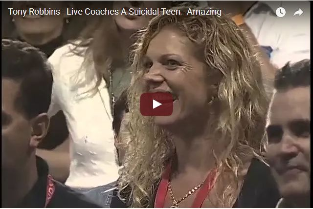 AMAZING VIDEO - Tony Robbins Helps a Suicidal Girl Through Her Fears
