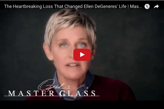 Ellen DeGeneres - How She Used Writing To Deal With Her Guilt