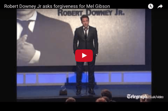 Robert Downey Jr.'s Touching Speech For Mel Gibson