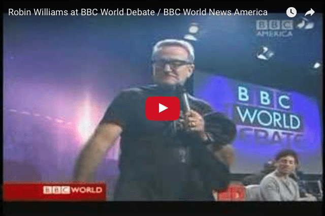 BRILLIANT! How Robin Williams Stole The Show From The BBC! 1