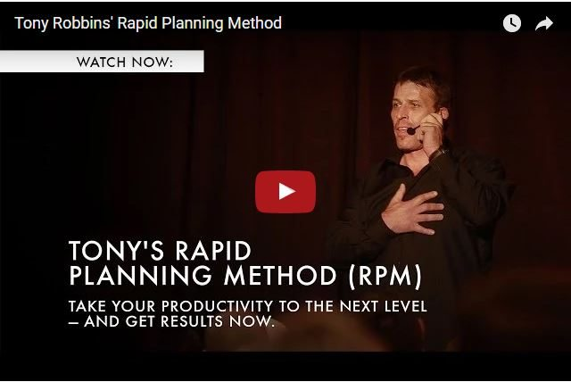 Tony Robbins' Secret To Successful Planning