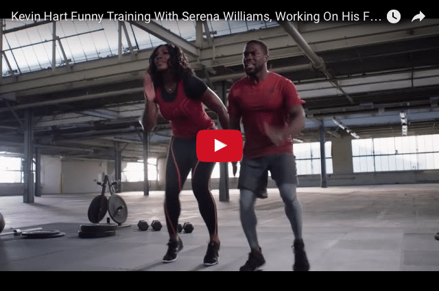 FUNNY: Why Kevin Hart Really Shouldn't Compete With Serena Williams :-)
