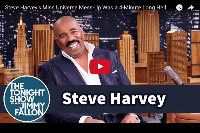 FUNNY: Steve Harvey's 4 Minute Miss Universe Nightmare!