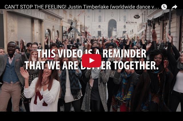 INSPIRING MUSIC: Justin Timberlake - Can't Stop The Feeling