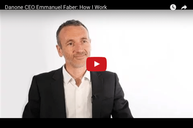 """How I Work"" - Danone CEO Emmanuel Faber"