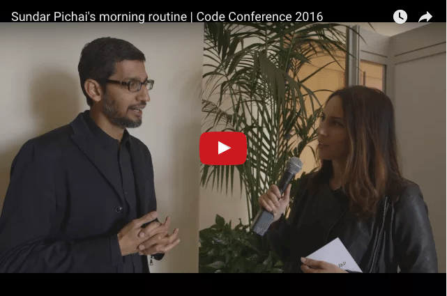 Sundar Pichai - How Google's CEO Is Not a Morning Person!