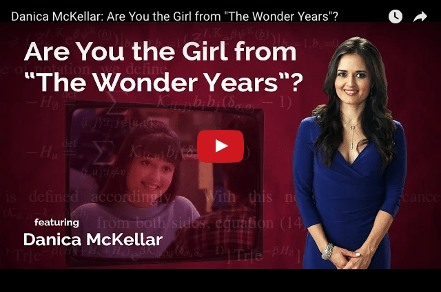 Danica McKellar - From Wonder Years Star To Maths Genius!