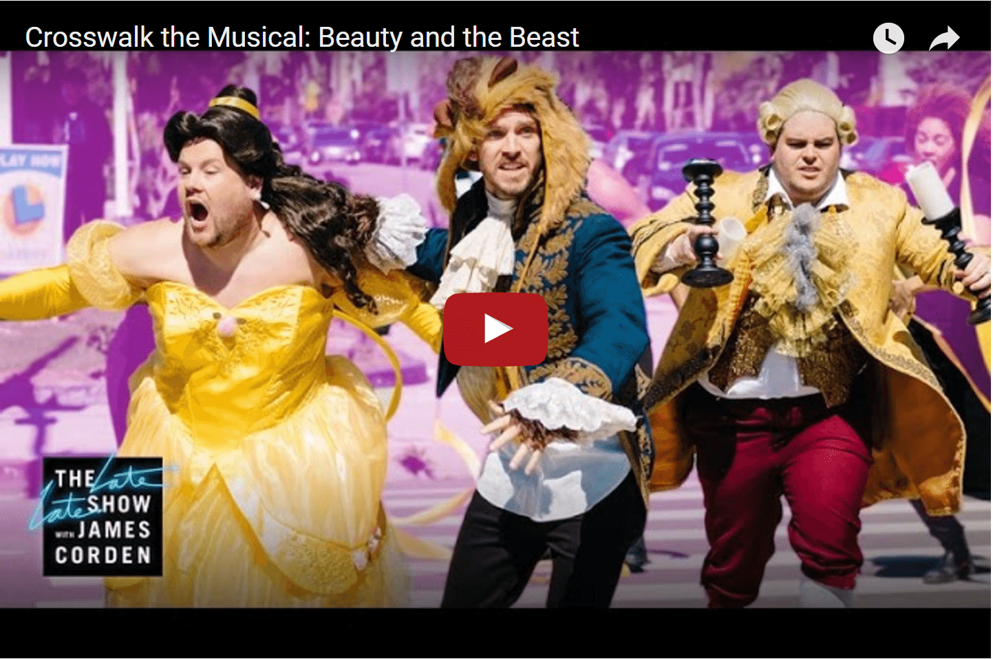 Funny! James Corden Is The New Princess Belle 1