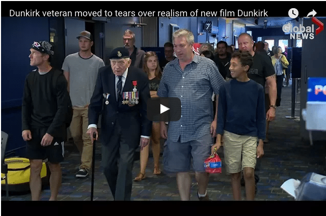 98-Year-Old Dunkirk Veteran Moved To Tears As He Watches New Film