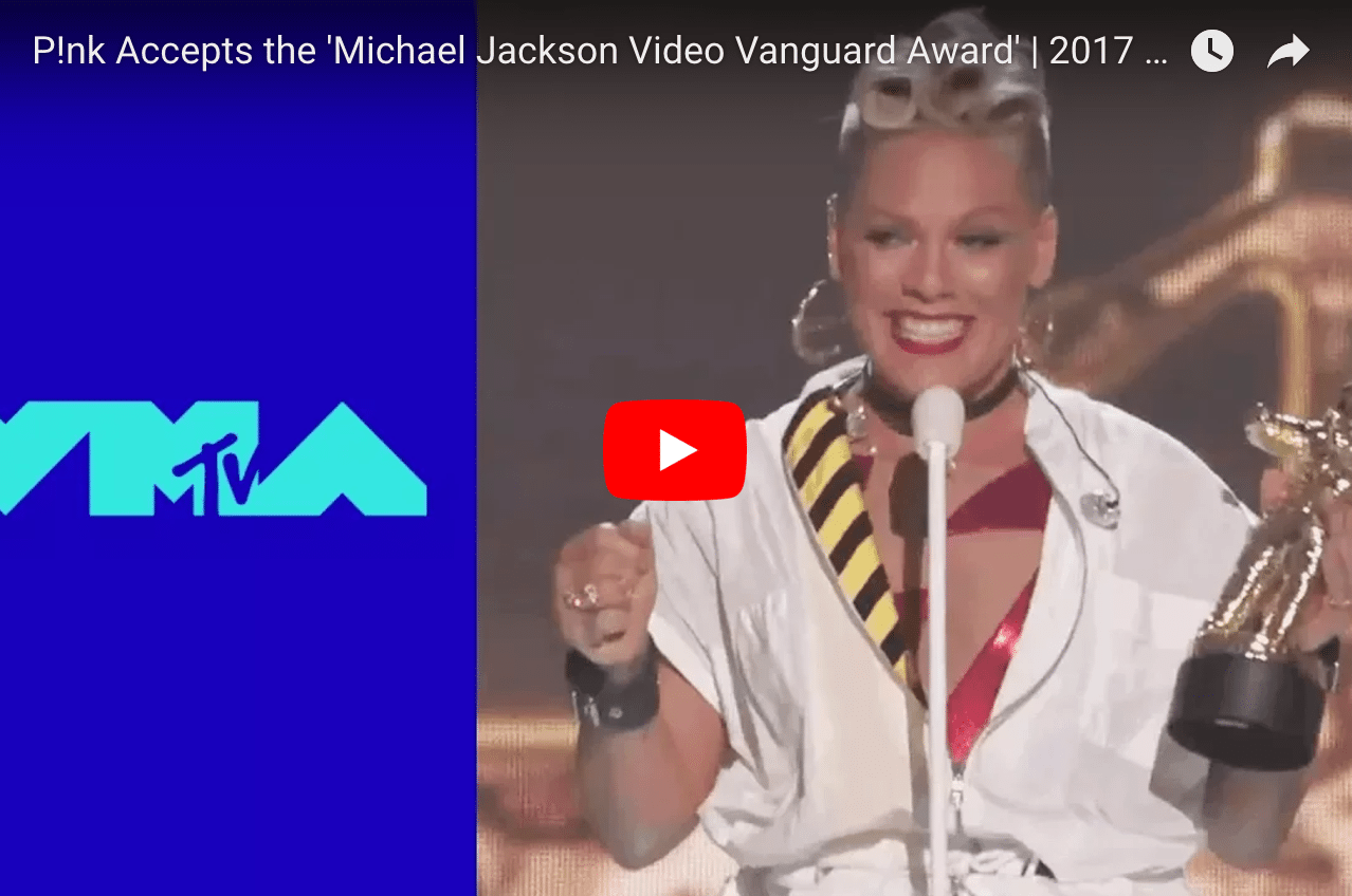 Pink Shares Wisdom on Self-Image and Confidence at VMAs