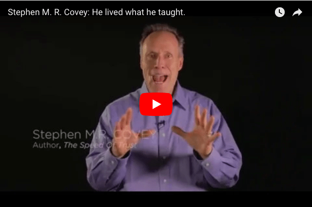 """""""He Lived What He Taught."""" - Stephen M.R. Covey Remembers His Father 85 Years On"""