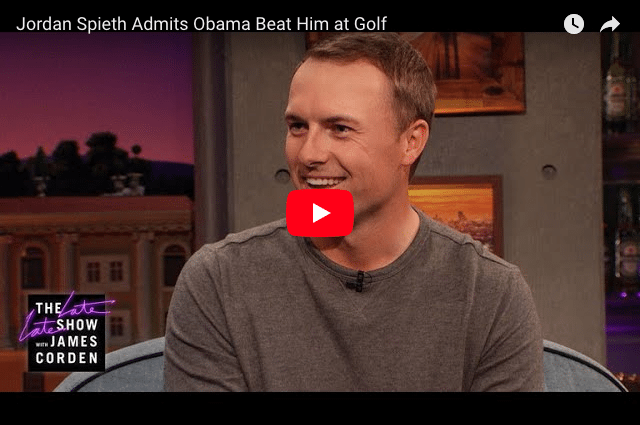 When Barack Obama Beat Professional Golfer Jordan Spieth At Golf!