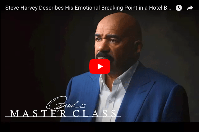 VIDEO - Comedian Steve Harvey Describes His Emotional Breaking Point