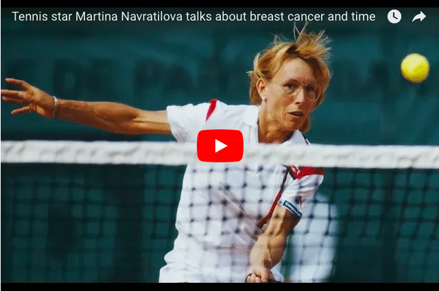 "Martina Navratilova -  ""How Breast Cancer Shifted My Perception of Time"""