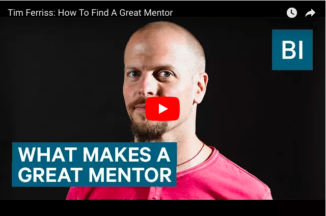 VIDEO - Tim Ferriss On How To Find The Right Mentor!