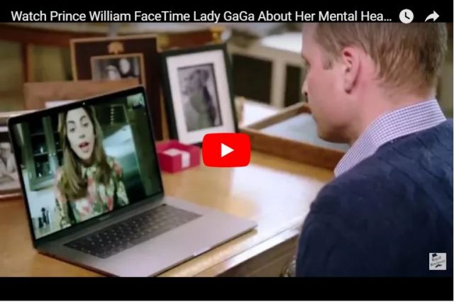 Lady Gaga And Prince William Talk About Mental Health 2
