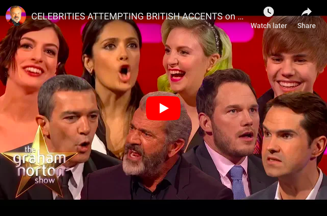 Brilliant! Hollywood Celebrities Attempting British Accents :)