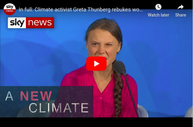 Greta Thunberg Video Youtube screenshot