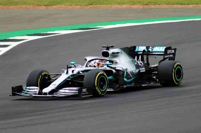 Lewis Hamilton's Petrona Mercedes car