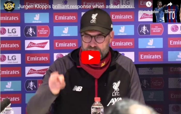 Jurgen Klopp is asked by the press for his thoughts on the Coronavirus