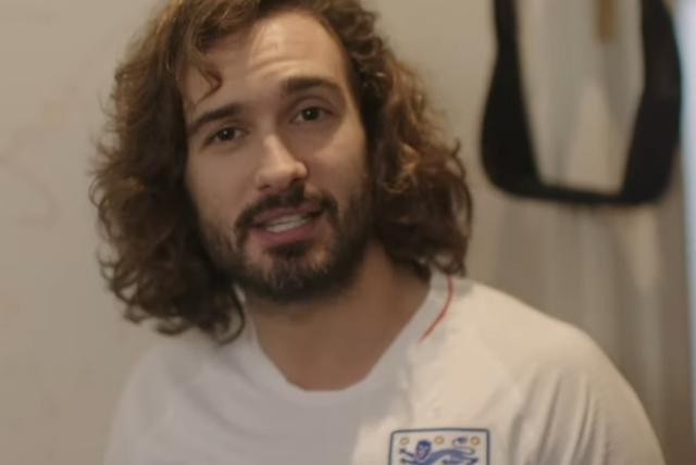 Joe Wicks in England Shirt at Soccer Aid 2019